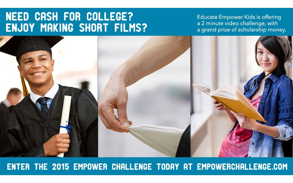 Win a $1000 Scholarship – Educate and Empower Kids